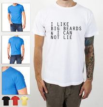 New T Shirts Funny Tops Tee Unisex TopsI LIKE BIG BEARDS AND I CAN NOT LIE FUNNY STYLE EXCELLENT QUALITY SHIRT