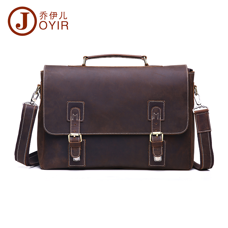 JOYIR Fashion genuine leather man shoulder bags cowhide leather crossbody bag men messenger bags Men small bag men gift 6301