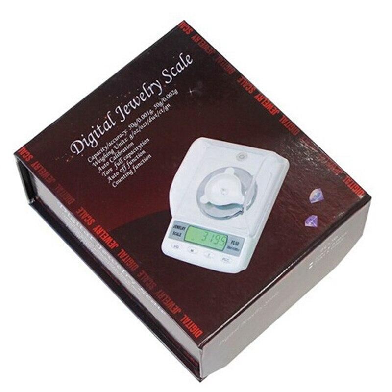 Balance de bijoux de diamant numérique portable de poche électronique de haute précision 50g/0.001g - 5