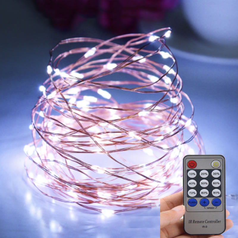 10M 20M 30M 50M LED Copper Wire String Lights Outdoor Starry Fairy Lights Christmas Decor Ornament Navidad Xmas New Year
