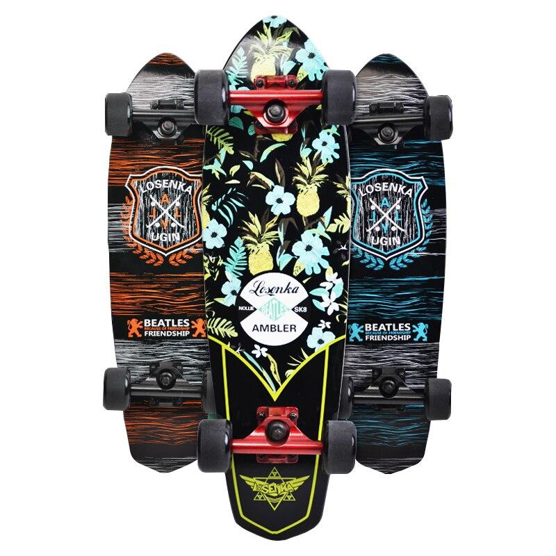 UGIN Freestyle impression rue 28 pouces longue planche à roulettes complète rétro Graffiti Style Skateboard Cruiser longues planches à roulettes érable - 2