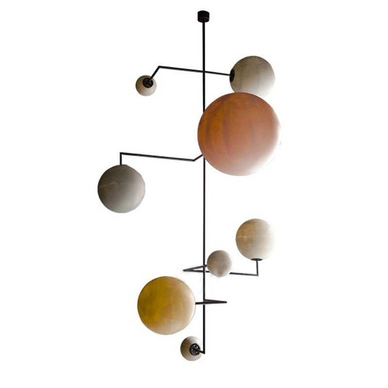 2019 New Arrival Nordic classical Colorful Resin round ball Pendant lights Creative Living room Bedroom luxury LED hang lamp