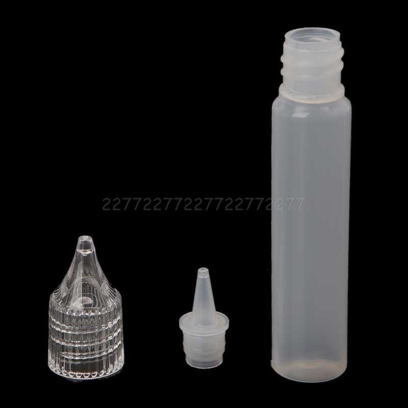 E - Juice ขวดน้ำมัน Vape เคล็ดลับหยดพลาสติกที่ว่างเปล่า Liquid Dropper 10/30/50 ml A01 19 Dropship