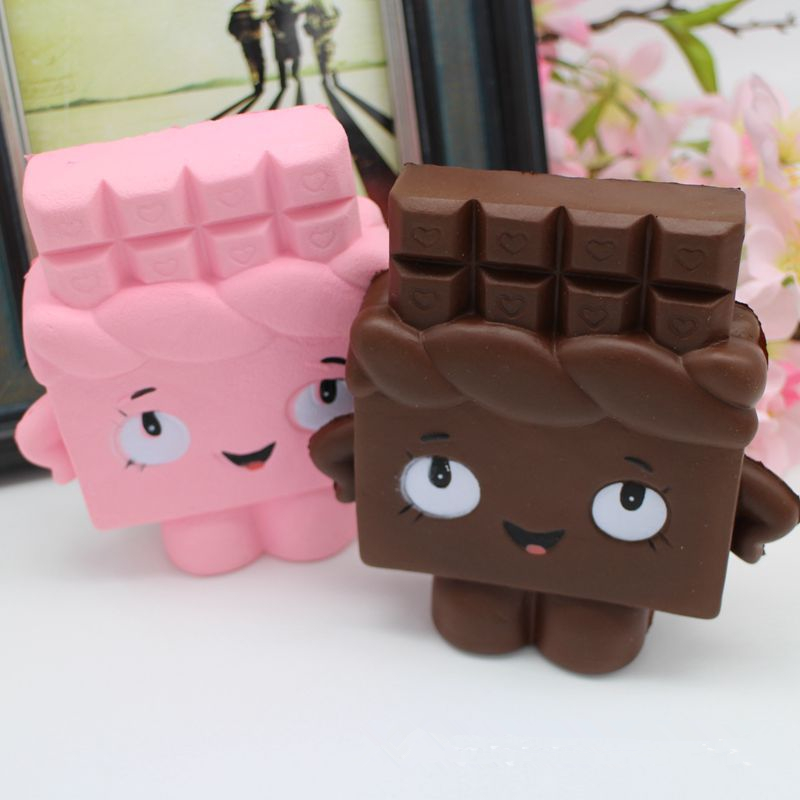 New 13cm Jumbo Chocolate Boy Girl Squishy Antistres Scented bread Pendant Soft Slow Rising Gift Kids Fun Toy mobile Phone Straps