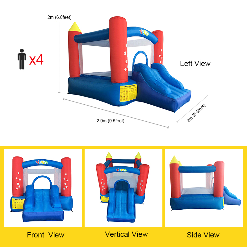 YARD Inflatable Bounce House For Kids Jumping House With Slide With Blower Home Use Small Outdoors Inflatable Castle ChildrenYARD Inflatable Bounce House For Kids Jumping House With Slide With Blower Home Use Small Outdoors Inflatable Castle Children