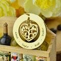 Coração Árvore Genealógica Colar de Ouro Colar Nome Gravado Nome Crianças Mãe Sempre Amar Sua Família Coração Jóias