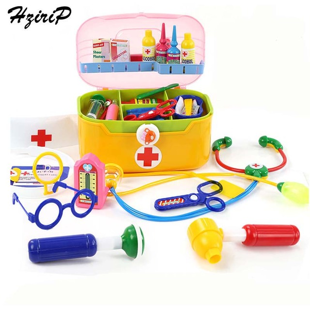 032454ccd Hzirip nuevo juguetes para bebés doctor Sets Juegos de imaginación juguete juego  caja de la medicina