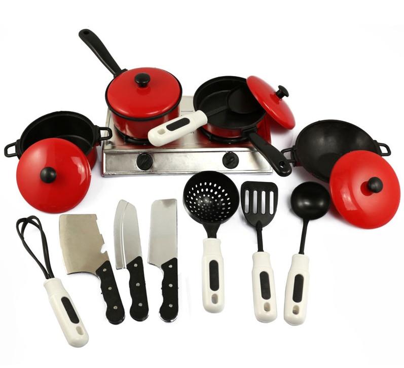 7 13pcs Children Kitchen Set Pretend Play Cut Toy Utensils Fruit