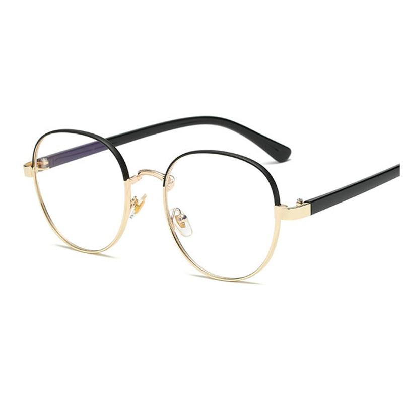 cf2ae7e73d0fb Detail Feedback Questions about MINCL  Fashion men and women Retro Designer  Metal zero diopter Eyewear Upscale Round Glasses Frame Optical Plain Mirror  FML ...