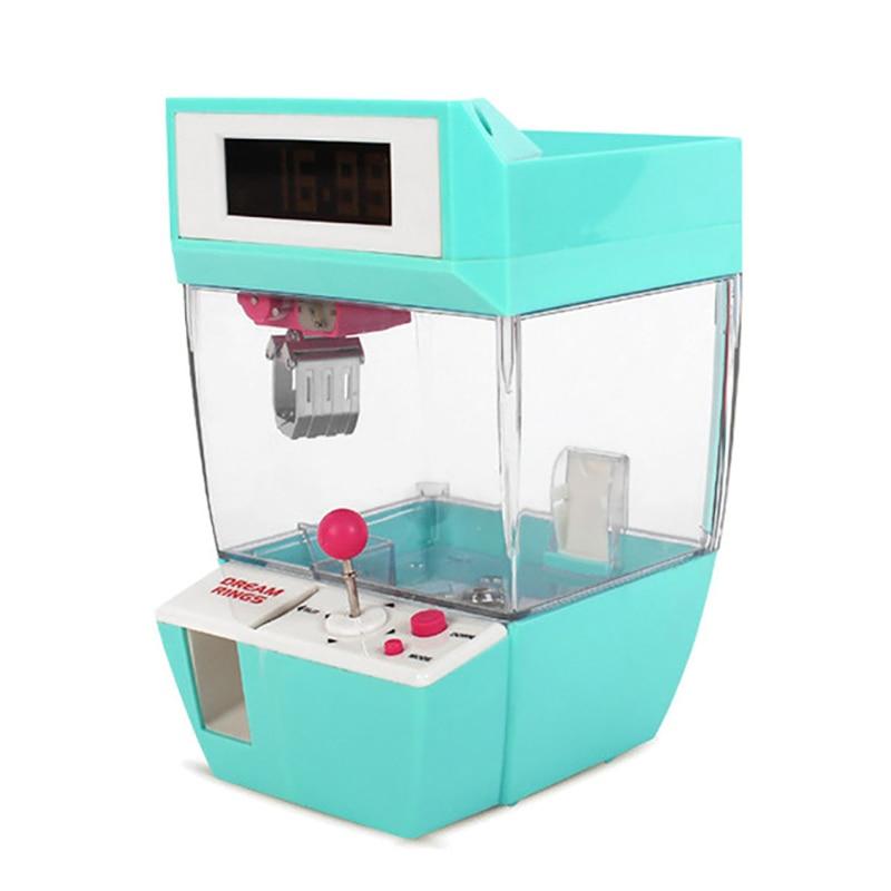 Máquina de Jogo Máquina de Doces Catcher Despertador Moeda Operado Guindaste Boneca Grabber Garra Máquina Arcade Brinquedo Automático Crianças