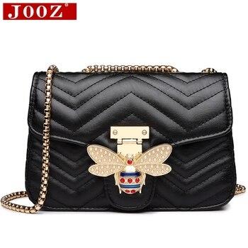 80dfe37ceeb6 Цепи сумки на плечо для женщин 2019 роскошные сумки дизайнер известных  брендов курьерские женские кожаные Sac основной