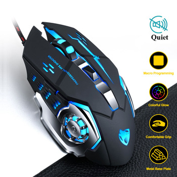 New 6 Button 3200 DPI USB Wired Mechanical Gaming Mouse Mice LED Backlit Optical Professional Game Mouse Mice for PC Laptop เมาส์