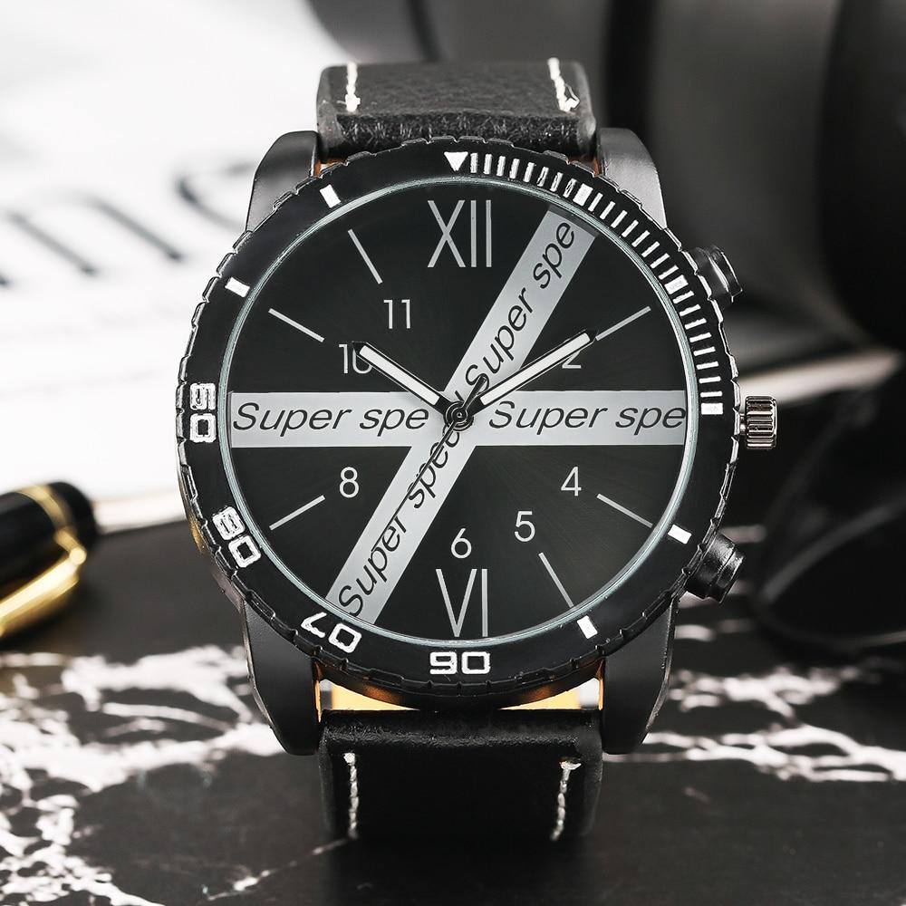 Punk Watch Men Rubber Band Strap Super Steampunk Dial Wrist Watch Sport Pilot Pin Buckle Quartz Mens Watches Gift for Boy