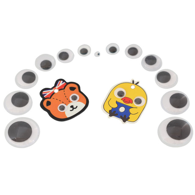 50pcs small diy handwork cartoon animal eye3d rolling eyes stickerchildren handwork materials
