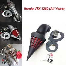 For Honda VTX 1300 VTX1300 (All Years) Motorcycle Air Cleaner Kit Intake Filter Black Chrome aftermarket free shipping motorcycle parts air cleaner intake kit filter for honda vtx1300 vtx 1300 1986 2012 chromed