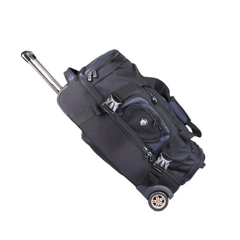 Водонепроницаемый дорожная сумка, 27/32 дюймов большой емкости чемодан, многофункциональный холст чемодан на колесах, в одну сторону чемодан