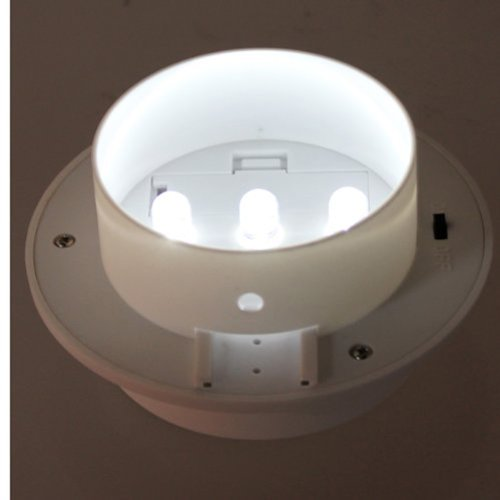 6x солнечной энергии 3 LED водостоков забор свет наружной стены сад на крыше лампа Освещение