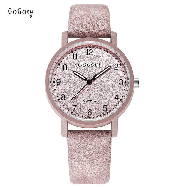 Brand Women's Watches Fashion Leather Wristwatches Women Men Ladies Casual Quart