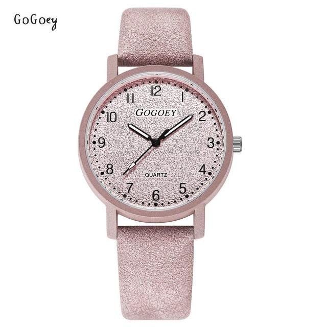 Brand Women's Watches Fashion Leather Wristwatches Women Men Ladies Casual Quart