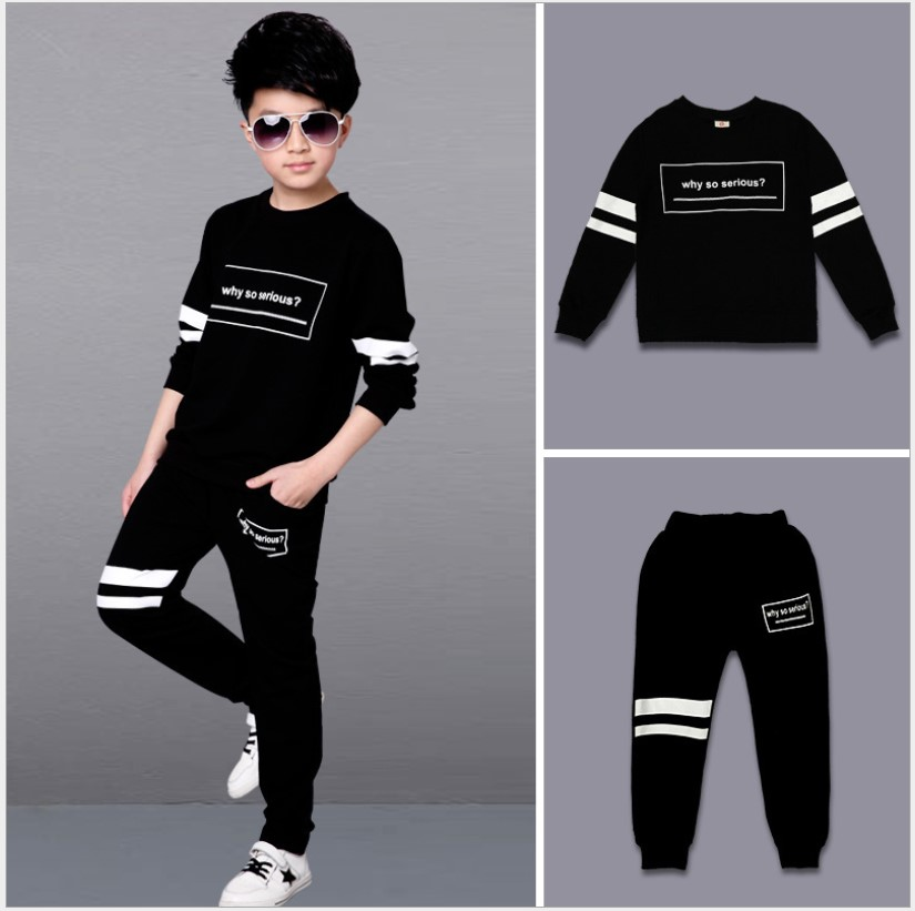 Boys Clothes 2017 Autumn /Winter Striped Pullover School Children Sports Suit Add velvet Teenage 13 Years Girls Boutique Outfits