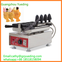 big fish mouth ice cream taiyaki machine /mini waffle maker/ ice cream waffle cone maker