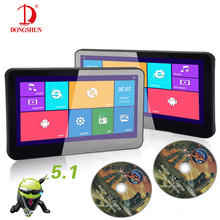 Android 5.1 touch screen flip type 10 inch headrest car dvd player