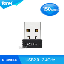 150 Mbps Wifi Mini RTL8188EU Realtek 150 M USB Wireless Wifi Lan Adaptador Dongle Compatible con 802.11b/g/n Para El Ordenador Portátil PC de Escritorio