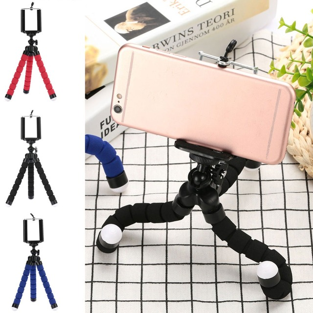 Lensoul Mini Flexible Sponge Octopus Tripod For iPhone For Xiaomi Smartphone Tripod For Gopro Camera Accessory With Phone Clip