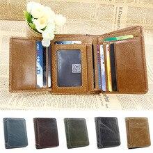 THINKTHENDO для мужчин из натуральной кожи тонкий клатч бумажник ID двойные бизнес держатель для карт Портмоне