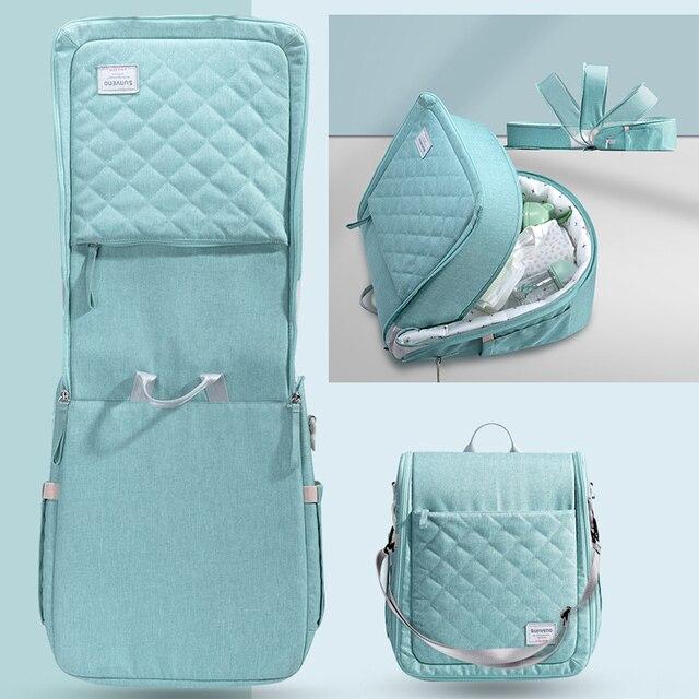 حقيبة سرير محمولة للأطفال من SUNVENO سرير قابل للطي للسفر لحديثي الولادة حقيبة حفاضات للأطفال 0-6 متر 3
