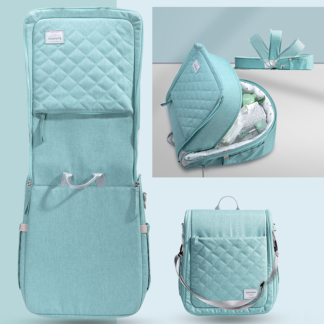 SUNVENO Baby Portable Bed Bag Foldable Newborn Travel Crib Carry-on Nest Bed Diaper Bag Bed for Baby 0-6M | HOTSHOPDIRECT