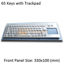 Metal keyboard with touchpad / trackpad, 65 keys, USB/ps2, industrial waterproof keyboard, custom kiosk keyboard(China)