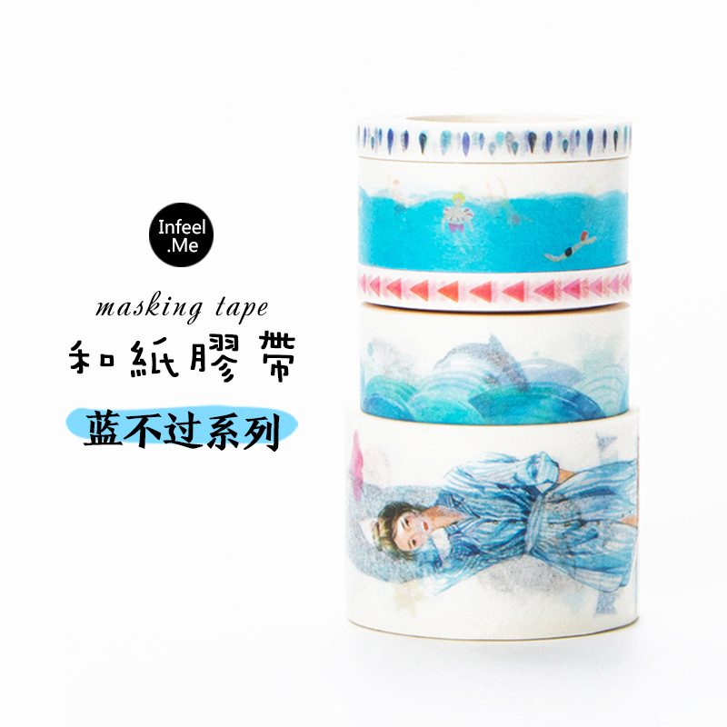 3 Color Series Mix 3 Size Washi Tape Set Japanese Masking Tape DIY Decorative Scrapbooking Adhesive Tape Set Cute Stationery 18 citis set travel series washi tape set japanese cute masking tape diy post it scrapbooking sticker label gift box set