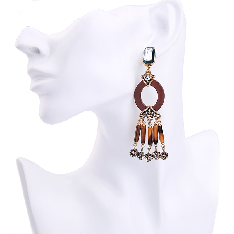 Statement Geometric Long Earrings Online Shopping India Crystal ...