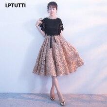 LPTUTTI Новые Сексуальные женские аппликации размера плюс, социальные праздничные элегантные вечерние платья для выпускного вечера, модные короткие Роскошные вечерние платья