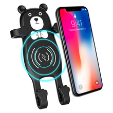 New Arrival QI Fast Wireless Charger Car Phone Holder Mobile Chargers For iPhone Xs Max Xr