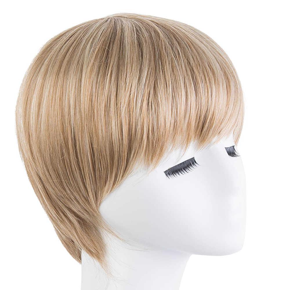 Peruca de cosplay fei-mostrar fibra sintética resistente ao calor curto ondulado cabelo loiro homem masculino hairpiece preto/marrom/borgonha/marrom claro