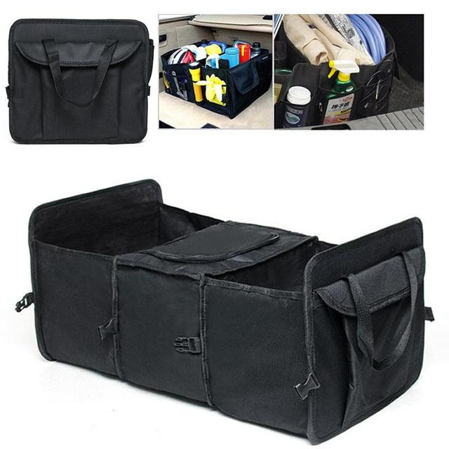 Car Trunk Organizer Auto Care Storage Bag Foldable Multi Compartment Fabric Oxford Cloth Folding