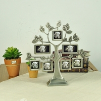 Family Happiness Tree Frame Photo Frame Metal Creative Tree Shape Crafts Zinc Alloy 4 4cm