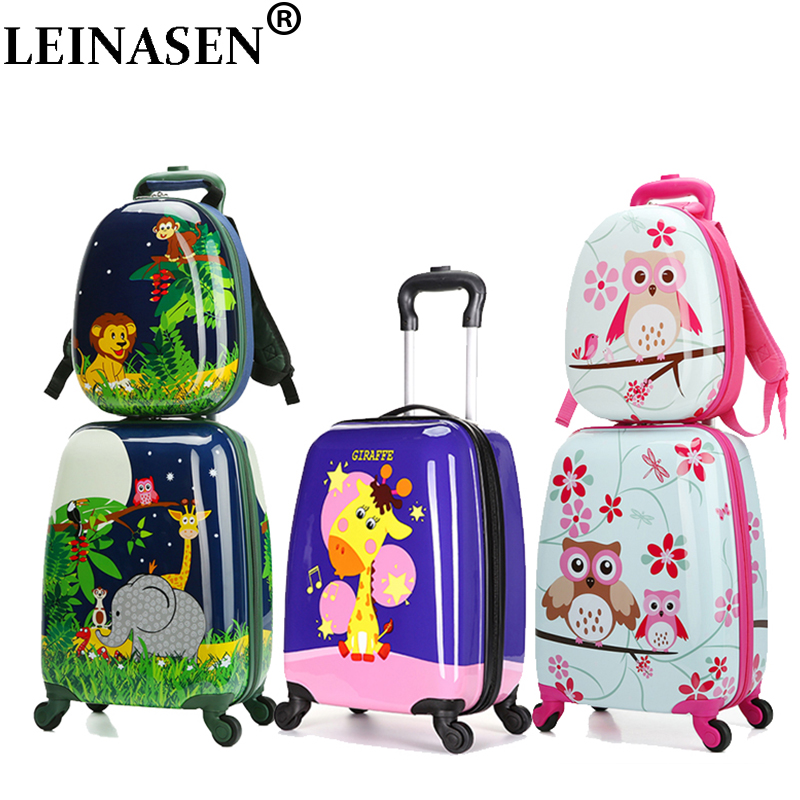 18 carry-on Suitcase with wheels kids Spinner luggage travel Rolling Luggage trolley bags child1ens suitcases Rod Box Animal18 carry-on Suitcase with wheels kids Spinner luggage travel Rolling Luggage trolley bags child1ens suitcases Rod Box Animal