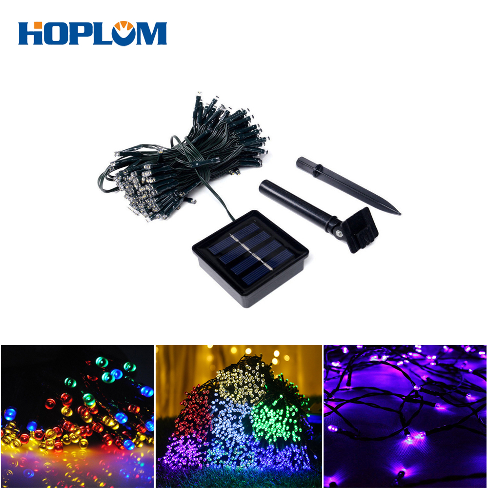 Solar String Light 100/200LEDS 42.7/72.2FT 8 Modes Solar Christmas Lights Waterproof Outdoor Fairy String Lights For New Year