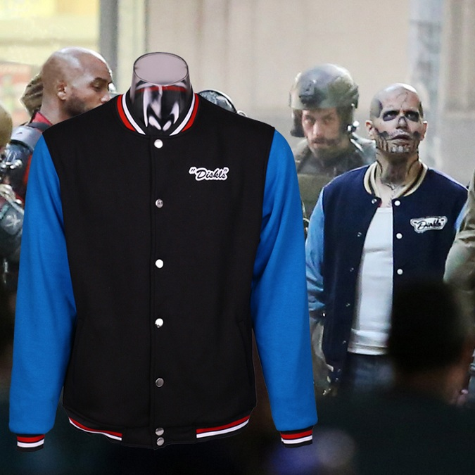 Suicide Squad Cosplay El Vengeful demon Flannel Jacket Men Sport Jersey Winter Uniform Cosplay Coat Costume J10