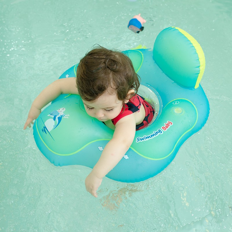 Inflatable Baby Swim Seat Float Water Fun Toys Pool Floats More safety baby swimming flotat Double chair Raft waist stool float