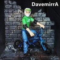 Green prefession BMX flick trix Finger Bike Alloy BMX Bicycle Boy Toy DIY toys for child children mini Mountain bike