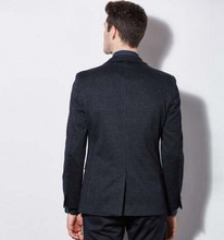 custom made Worsted Wool mes suits Slim black stripe business suits men's three-piece groom wedding dress TNGQ05