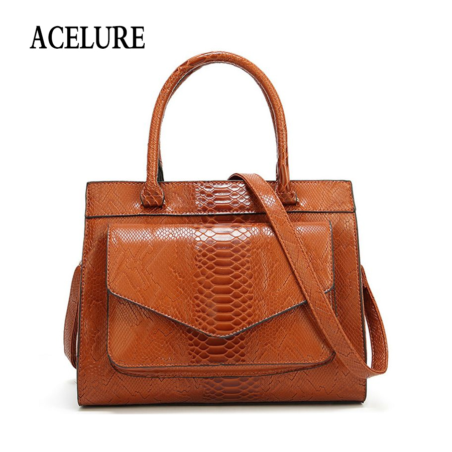 ACELURE Simple Style Elegant Ladies Shoulder Bag Solid Serpe