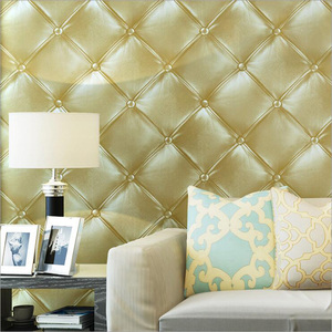 Q QIHANG Luxury Gold Europe 3D PVC Non-woven Environmental-Friendly Living room Bedroom Study Wallpaper 0.53m*10m=5.3m2(China)