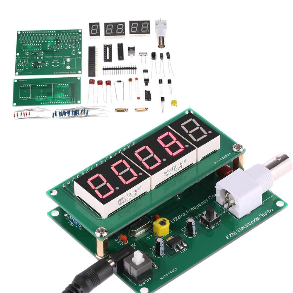 Hoge Gevoeligheid 1Hz-50 Mhz Frequentie Meter Teller Meting Tester Module 7 V-9 V 50mA Diy kit