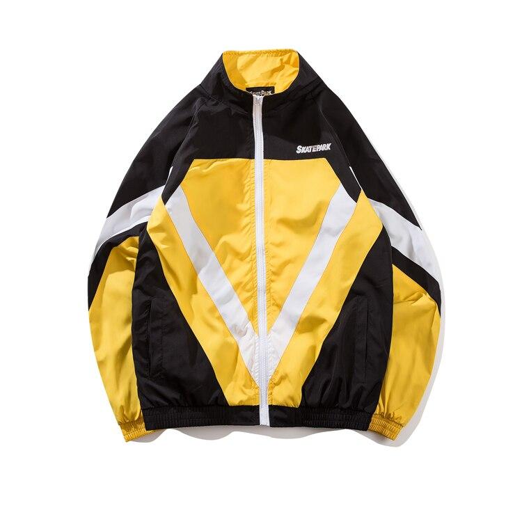 2018 moda nuevo estilo de calle de los hombres chaqueta casual personalidad color costura tendencia chaqueta tamaño europeo