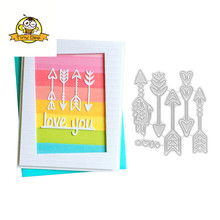 New Dies For 2019 Arrows Die Metal Cutting Scrapbooking DIY Craft Stencil Cut Decoration